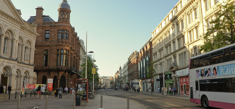 A view of Belfast City centre